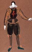 stock photo of courtier  - historical costume  - JPG
