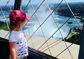 Tourist View Of Niagara Falls poster
