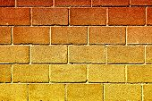 foto of cinder block  - Full Frame Cinder Block Brick Wall with Rough Texture - JPG