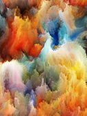 stock photo of hallucinations  - Composition of colorful fractal turbulence suitable as a backdrop for the projects on fantasy dreams creativity imagination and art - JPG