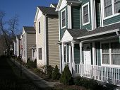 image of row houses  - row of colorful condos - JPG