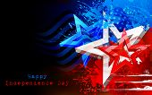 picture of waving  - illustration of abstract American Flag for Independence Day - JPG