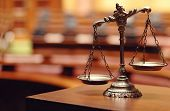 stock photo of scale  - Symbol of law and justice law and justice concept - JPG