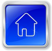 Home Icon On Blue Button