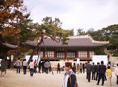 Seoul-south Korea- October 24 :tourist Visit At Emperor Palace Gyeongbokgung(greatly Blessed By Heav