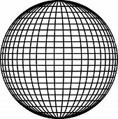 picture of geodesic  - The Ball Sphere Lines Vector isolate on white - JPG