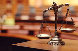 stock photo of jury  - Symbol of law and justice law and justice concept - JPG