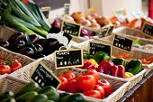 picture of stall  - Traditional provencal market stall - JPG