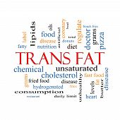 stock photo of lipids  - Trans Fat Word Cloud Concept with great terms such as grams diet unsaturated and more - JPG