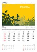 May 2013 A3 calendar - vector illustration