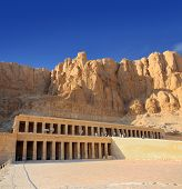 stock photo of hatshepsut  - famous ancient temple of Hatshepsut in Luxor Egypt - JPG