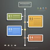 image of flow  - modern vector abstract flow chart infographic elements - JPG