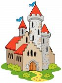 Ancient medieval castle poster