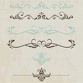 vector set: calligraphic design vintage elements and page decoration - lots of useful elements to em