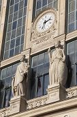 foto of gare  - Detail of the Gare du nord Paris France - JPG