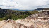 image of landslide  - Landslide Lookout on Cliff Drive overlooking the majestic Blue Mountains near Sydney NSW Australia