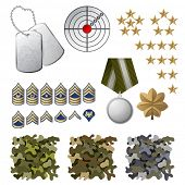 picture of sergeant major  - Military icons and design elements - JPG