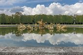 foto of versaille  - Fountain in Versailles Chateau near Paris France - JPG