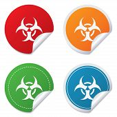 image of biohazard symbol  - Biohazard sign icon - JPG
