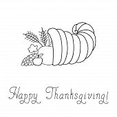 foto of cornucopia  - Thanksgiving Day - JPG