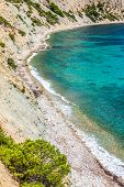 stock photo of tanga  - Beautiful view of the azure water on the island of Ibiza in Europe - JPG