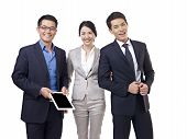 foto of studio  - studio portrait of an asian business team - JPG