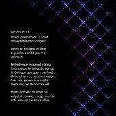 stock photo of backround  - Abstract neon light black backround vector illustration - JPG