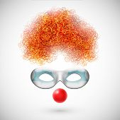 stock photo of clown face  - Accessories clown  - JPG