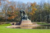 pic of chopin  - Famous statue of Frederic Chopin - JPG