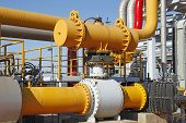 picture of oilfield  - In oil field - JPG