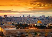 picture of israel people  - View to Jerusalem old city - JPG