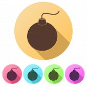 picture of time-bomb  - Set Flat icons of Bomb - JPG