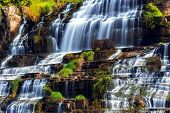 picture of lats  - Tropical rainforest landscape with flowing Pongour waterfall - JPG