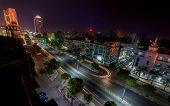 stock photo of yangon  - Night view of Yangon cityscape former capital of Myanmar  - JPG