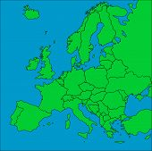 Map Of Europe With Borders poster
