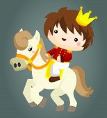 picture of horse-riders  - a prince and his trusted pet horse - JPG