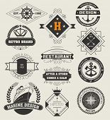Vintage Insignias / logotypes set. Vector design elements, logos, identity, objects, labels,and badges. poster