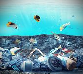 pic of polluted  - Pollution in the seabed because of humans - JPG
