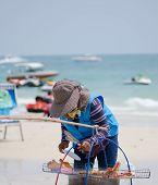 picture of peddlers  - Rayong Koh Samet Thailand  - JPG