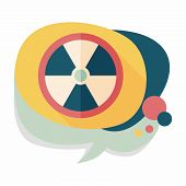 picture of nuke  - Radiation Flat Icon With Long Shadow - JPG