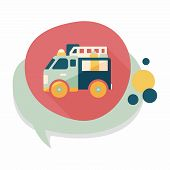 picture of fire truck  - Transportation Fire Truck Flat Icon With Long Shadow - JPG