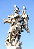 image of blue angels  - Angel in Rome on a sant angels bridge - JPG