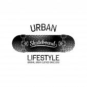 stock photo of skate board  - It is a vector print for design of your t - JPG
