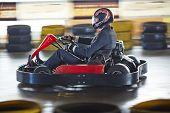 foto of karts  - Businessman driving go - JPG
