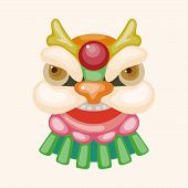 picture of dragon head  - Chinese New Year theme elements the dragon and lion dancing head - JPG