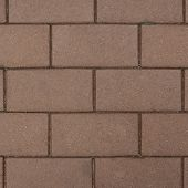 pic of paving stone  - Brown brick paving stone sett as abstract background texture - JPG