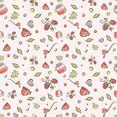 Постер, плакат: raspberry jam pattern