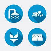 image of swimming  - Swimming pool icons - JPG