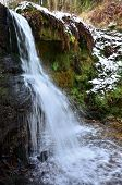 stock photo of falklands  - A view of a waterfall near Falkland during winter