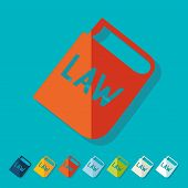 image of preamble  - constitution icon in flat design with long shadows - JPG
